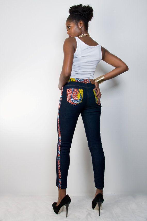 68d4fcc9a99ba Ankara Jadesola Jeans