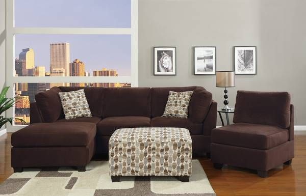NEW!!! Mini Sectional w/ Chaise and Matching Ottoman ...