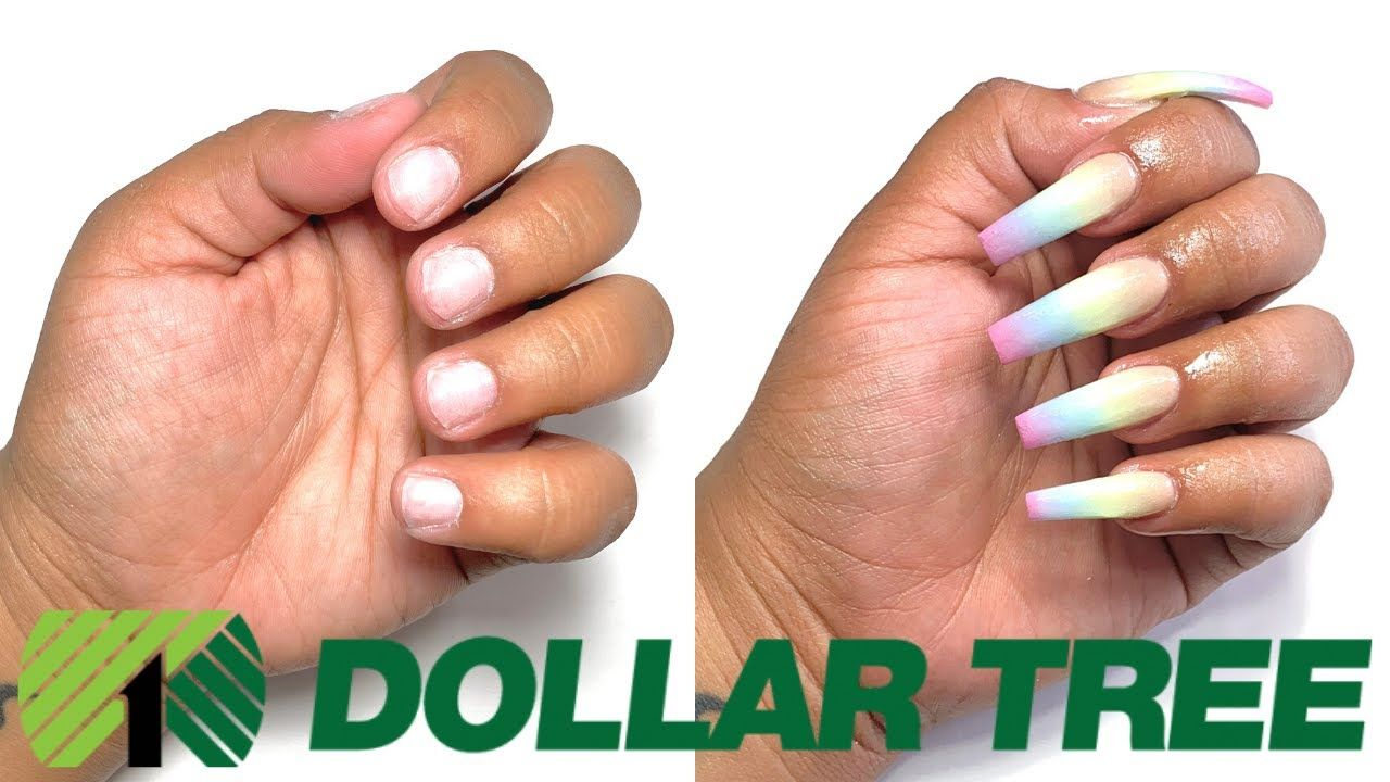 Dollar Tree Acrylic Nails At Home All Products Only 1 Not Clickbait Youtube Acrylic Nails At Home Nails At Home Diy Acrylic Nails