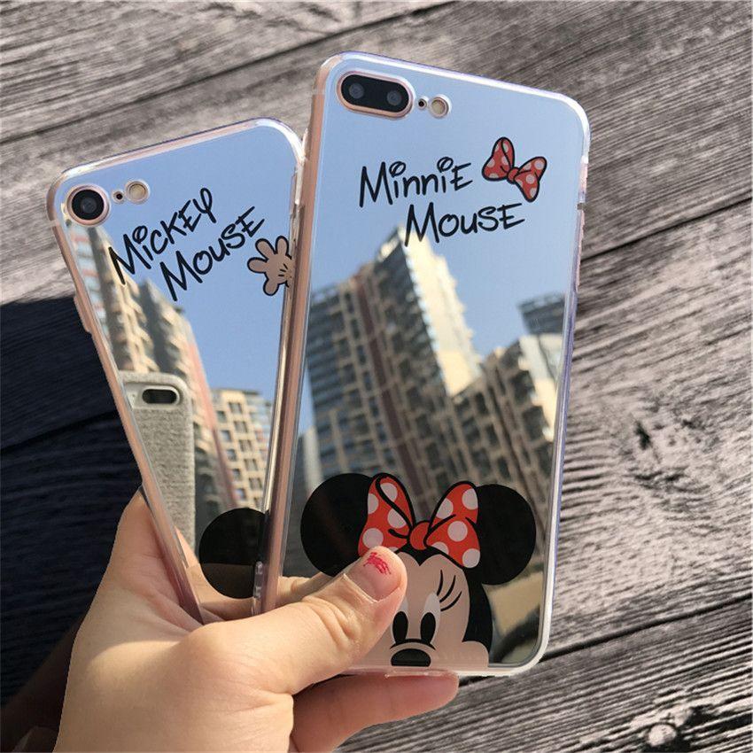 coque iphone 8 mickey miroir