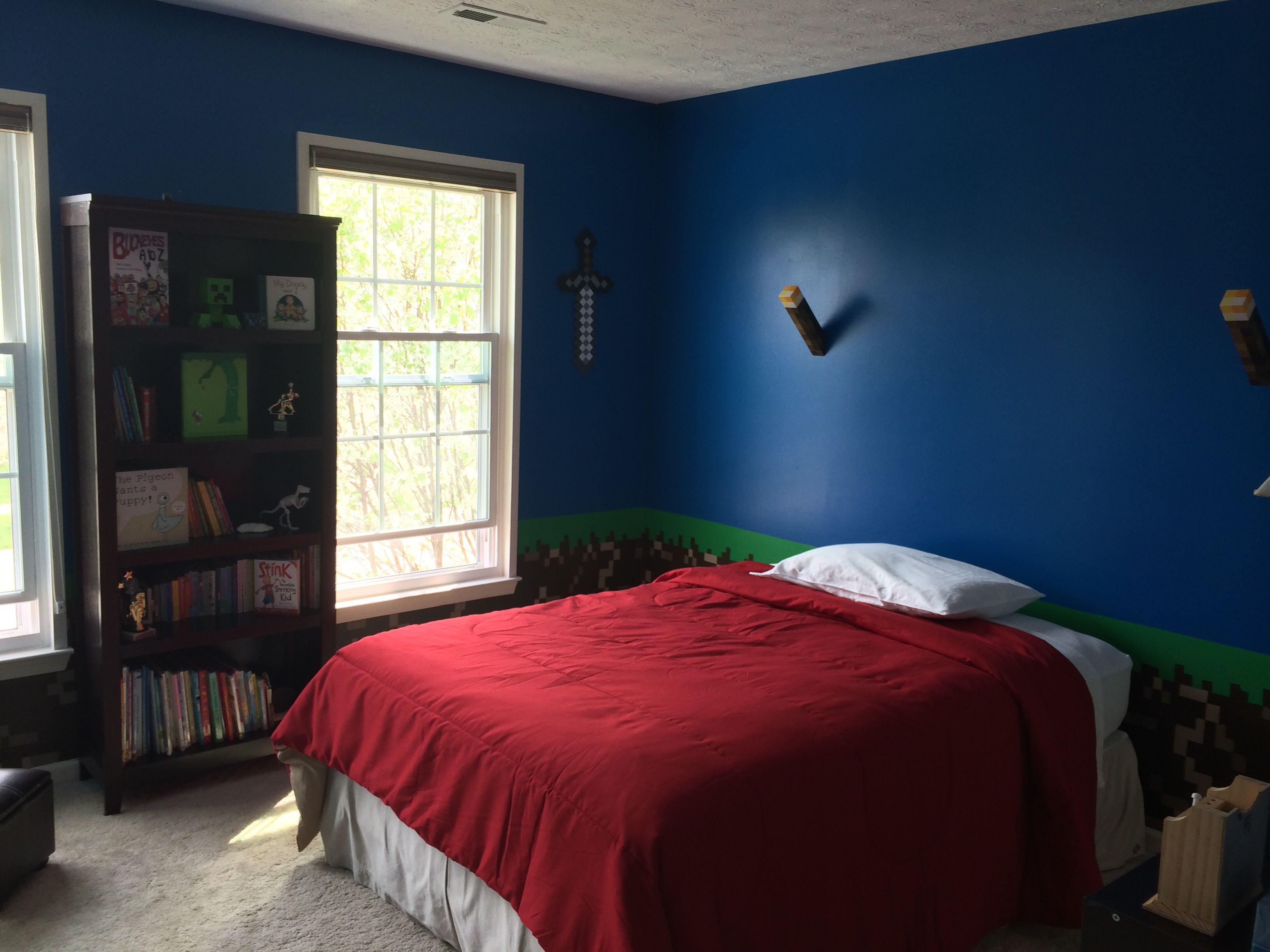 """My son's new Minecraft bedroom. """"The best thing in the ..."""