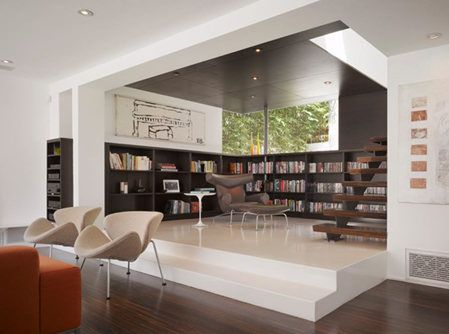 Luxury Modern Library Modern And Luxury Library Interior Design