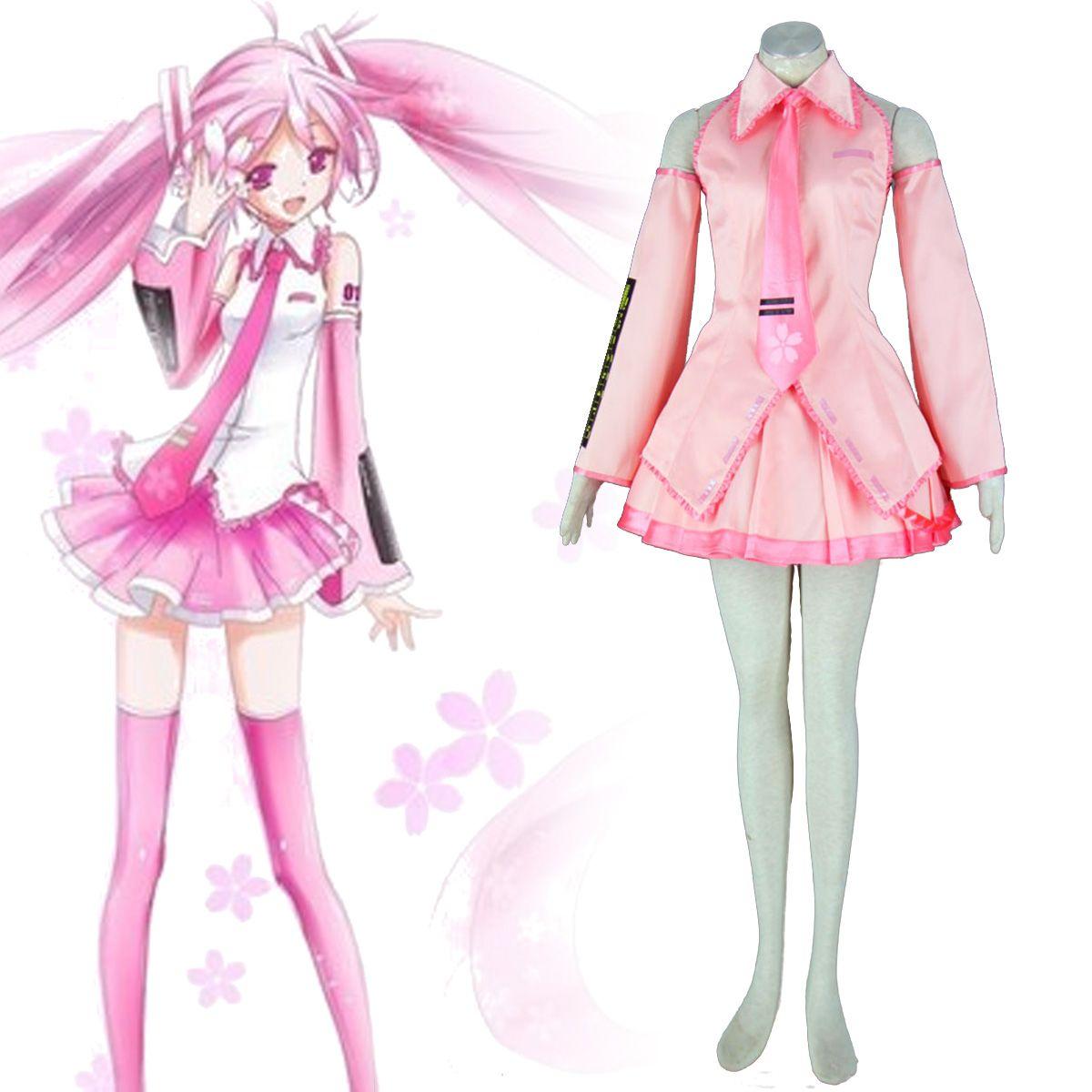 Deluxe Vocaloid Sakura Hatsune Miku 1ST Cosplay Costumes