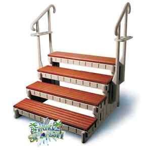 4 Step Spa Step Hot Tub Step Swim Spa Steps W Handrails Towel