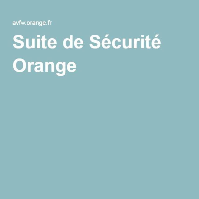 Suite de Sécurité Orange