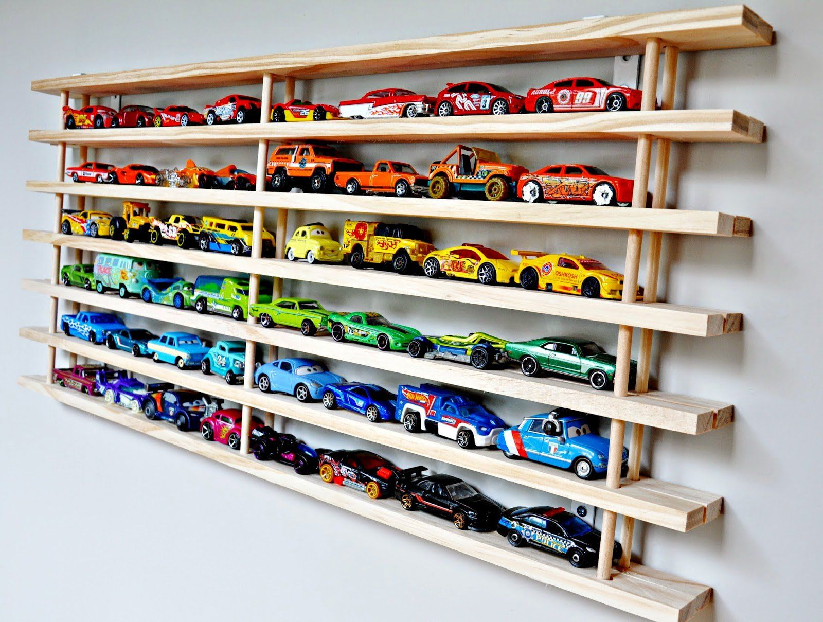5 Diy Toy Car Storage And Display Ideas For Small Homes Kids Stop