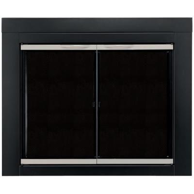 Pleasant Hearth Edinburg Large Glass Fireplace Doors Ed 5412 With