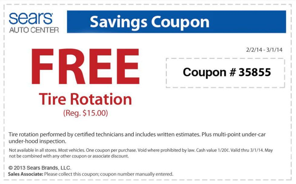 Saving 4 A Sunny Day: Free Tire Rotation At Sears