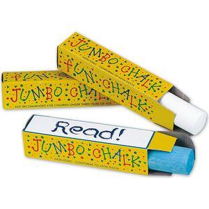 """3pack Jumbo Chalk. Three 4"""" sticks of jumbo sidewalk"""