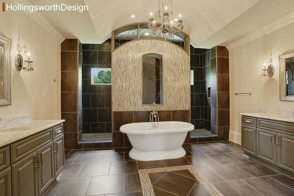 Love This Concept Of The Shower Behind The Tub With