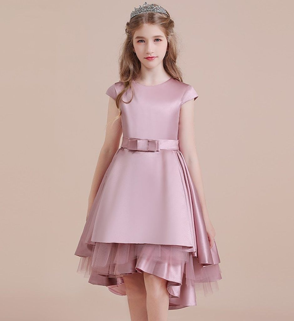 Simple High Low Gown-Made To Order - High Quality Bow front