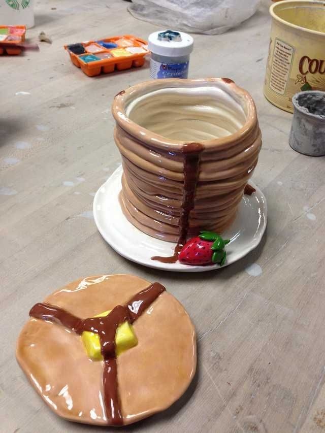 I made a coil pot in my ceramics class. What do you guys think? - Imgur
