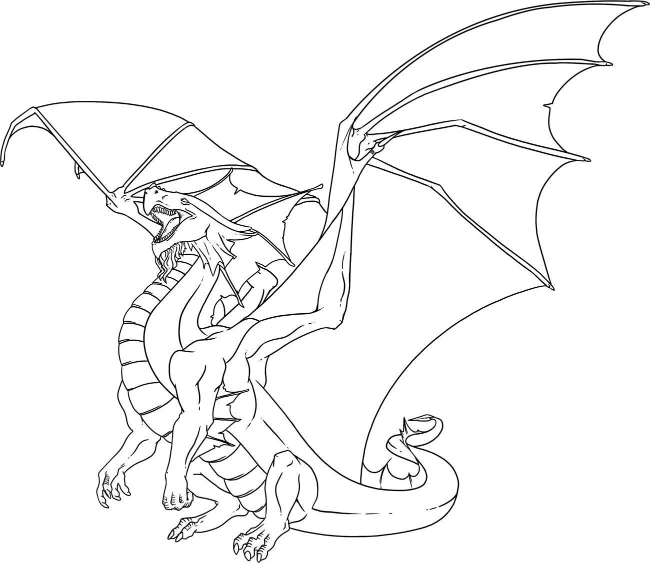 This Dragon Has Sharp Teeth Dragon Coloring Page Dragon Images