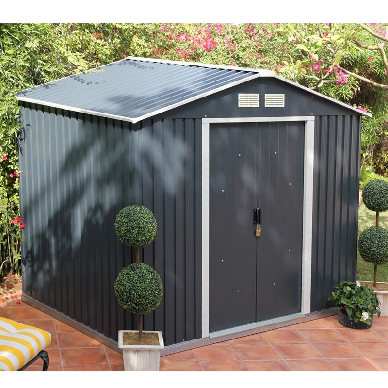 10x8 Store More Anthracite Metal Shed
