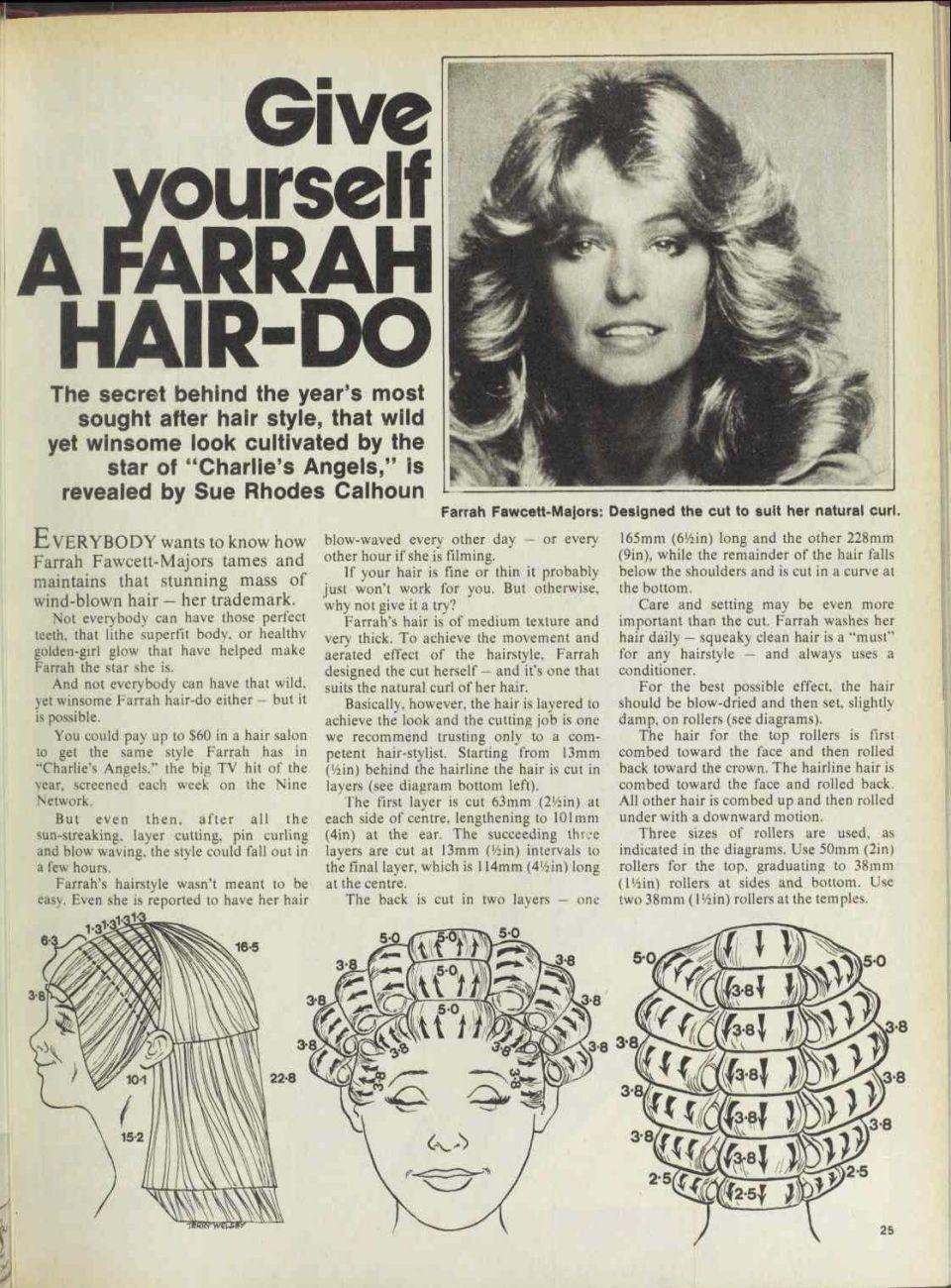 pin by pete on vintage hair howtos | pinterest | roller ... farrah fawcett haircut diagram #3