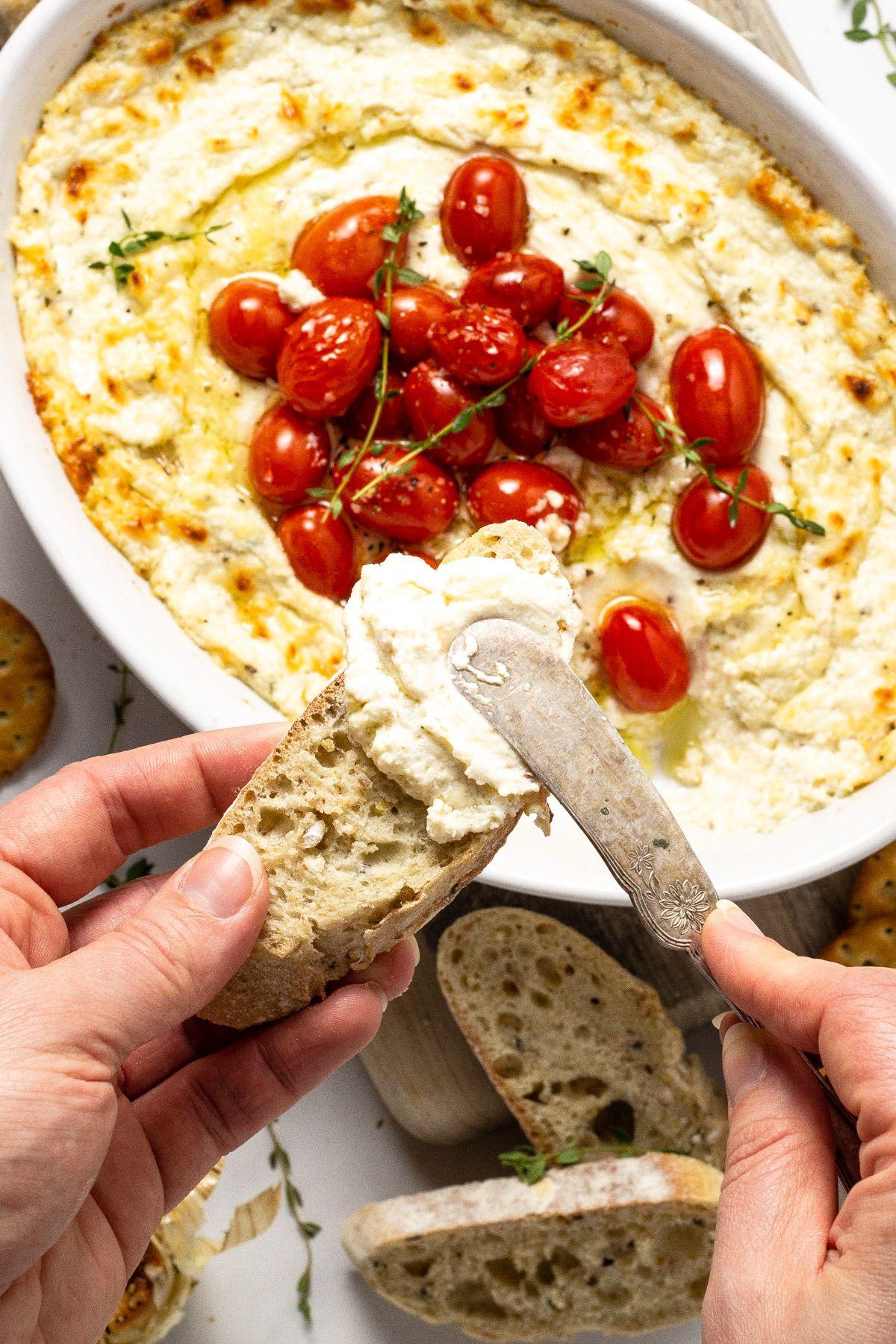 Roasted Garlic Goat Cheese Dip
