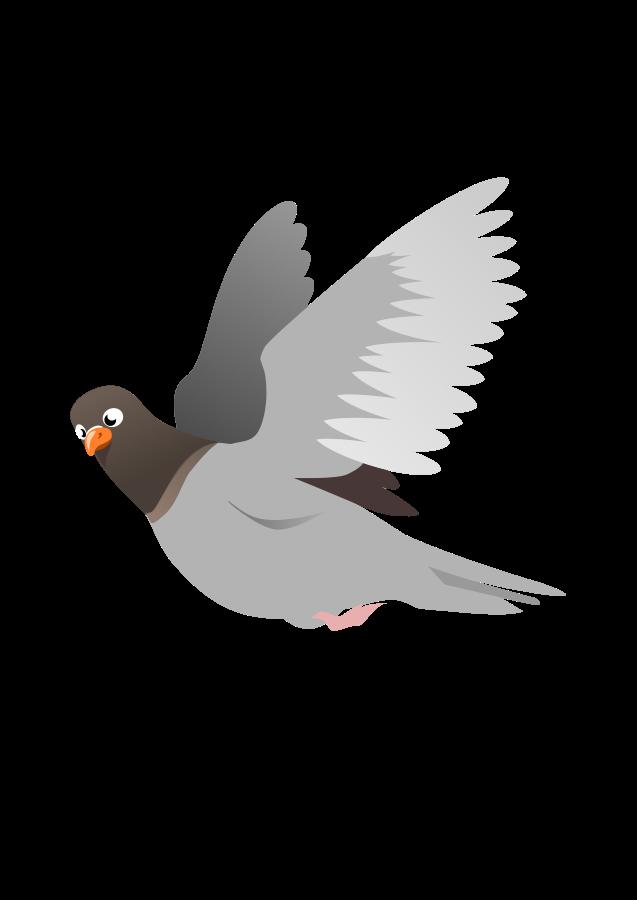 A Flying Pigeon Clipart Vector Flying Pigeon Cartoon Birds Bird