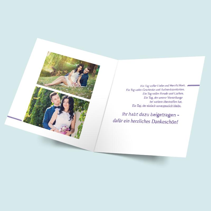 Foto Dankeskarten Zur Hochzeit Gestalten Verknupft