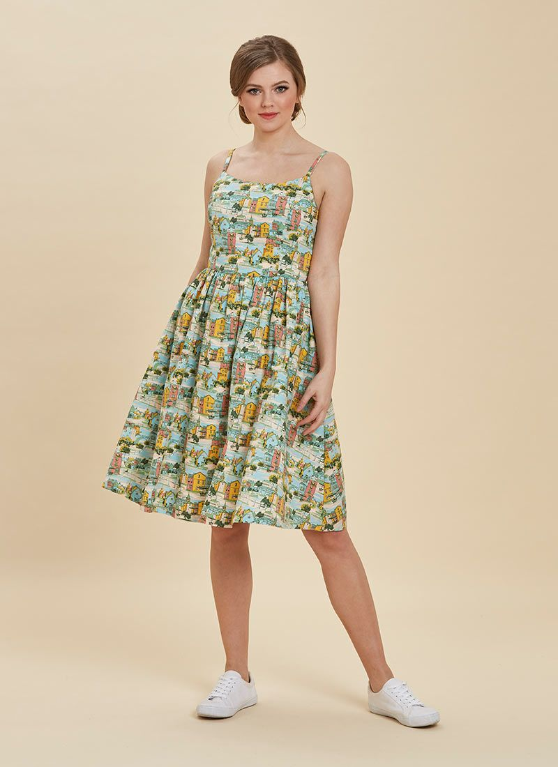 Sunday Provence Print Sun Dress Summer Strappy Dress Pockets Joanie Joanie Clothing Dresses Joanie Clothing Strappy Summer Dresses [ 1100 x 800 Pixel ]