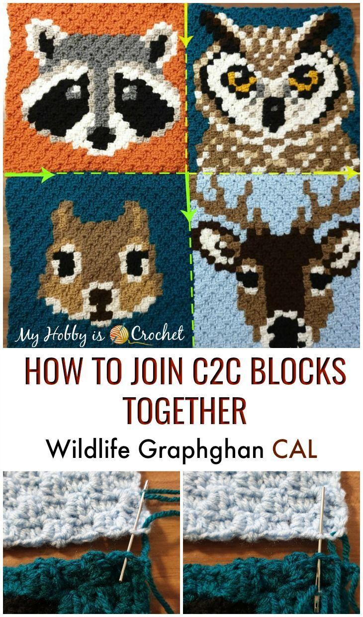 Comment rejoindre les blocs d'animaux c2c ensemble – Wildlife Graphghan CAL   – ♥ Granny Crochet!! ♥ Community Board