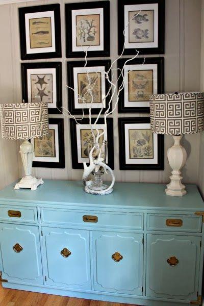 goodwill furniture makeover robin s egg blue console ballard
