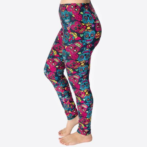 One Size Fits Most Seamless Floral Print Leggings US Women/'s 0-14