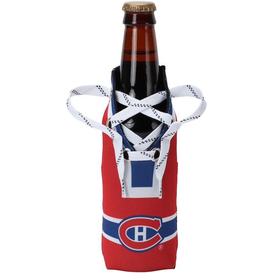 Montreal Canadiens Logo Hockey Laces Bottle Cooler Montreal Canadiens Canadiens Detroit Red Wings Hockey