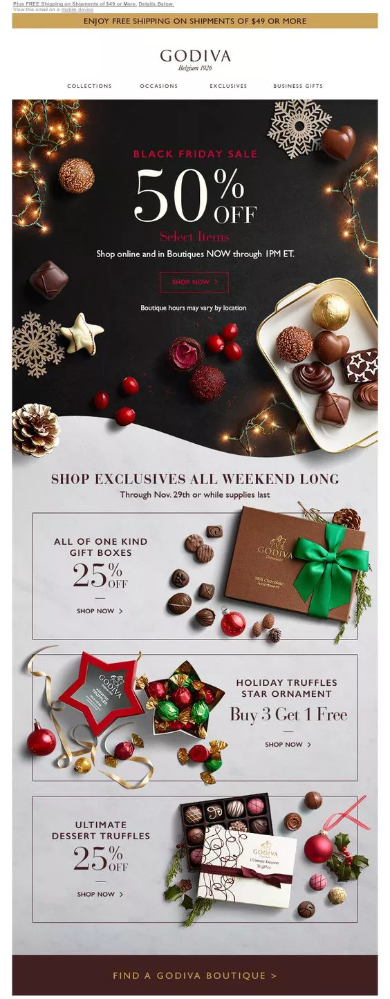 15 Examples of Great Holiday Email Designs – Alli Clough