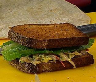 Receta: Pollo asado y mechado, con aderezo de mandarina
