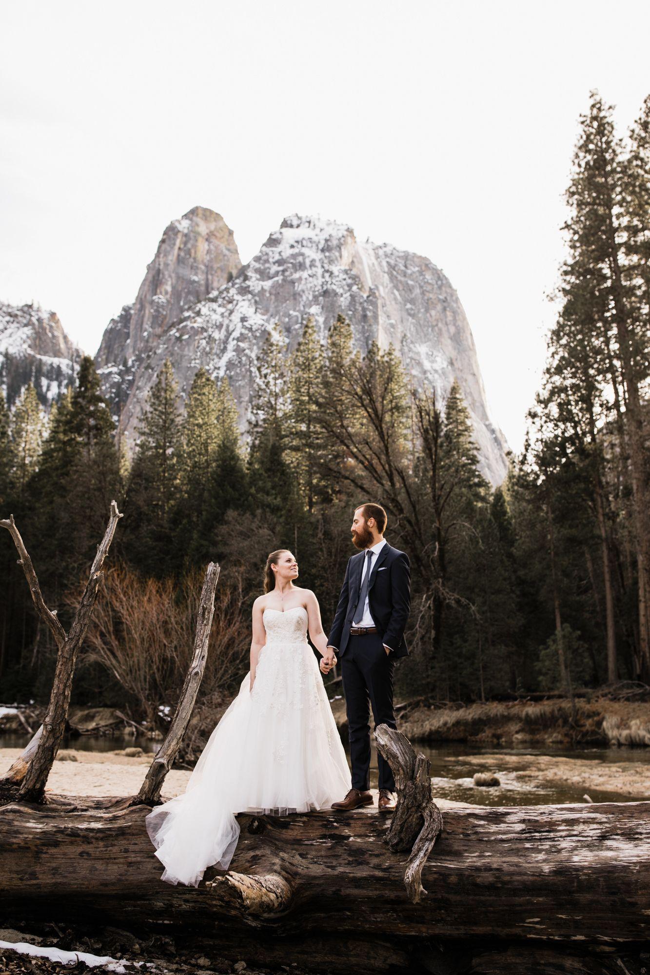 Winter Elopement In Yosemite National Park Yosemite Wedding Photographer Adventure Wedding Elopement Photographers In Moab Yosemite And Beyond The Hea Yosemite Wedding Elope Wedding Winter Elopement