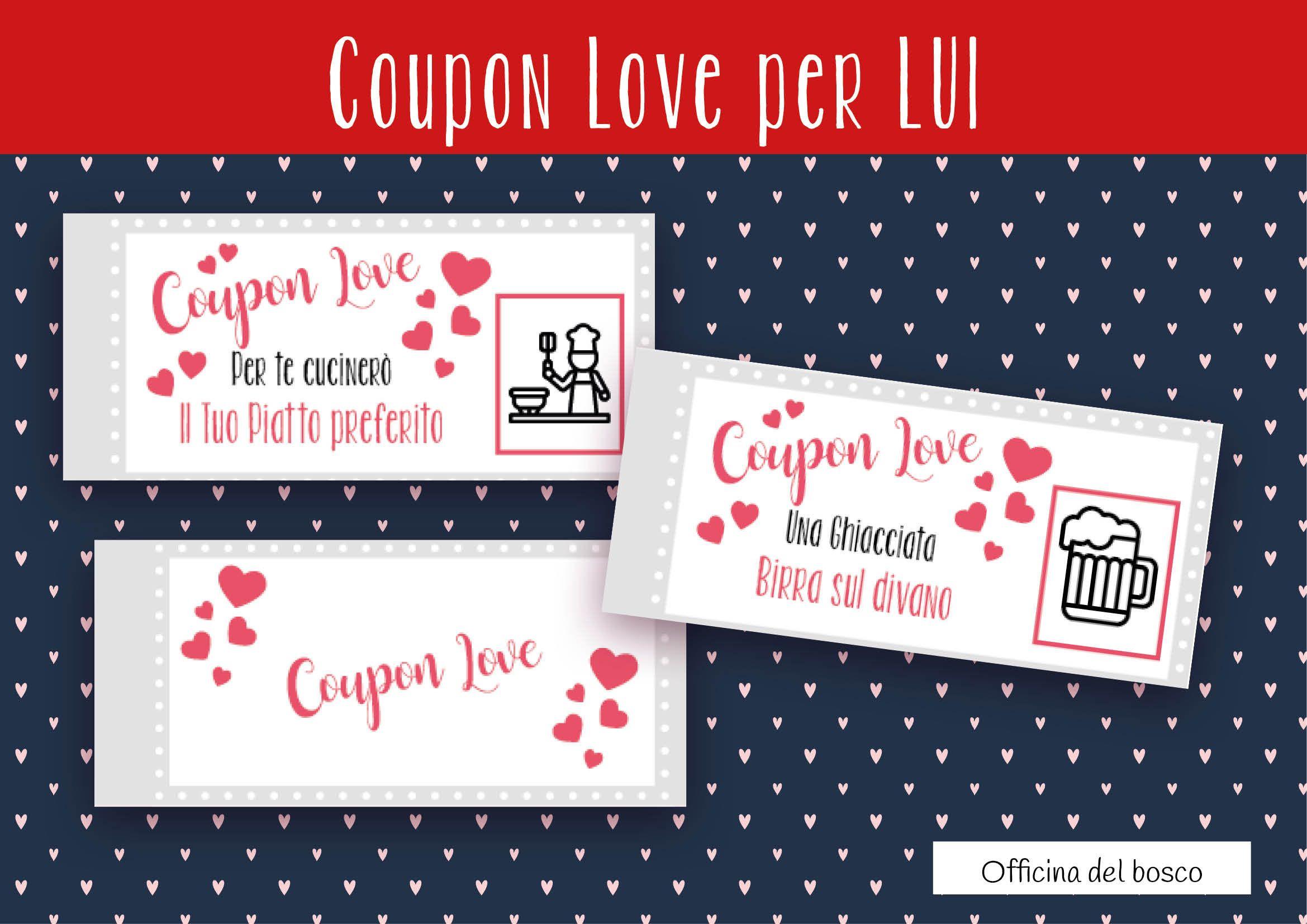 Sorprese San Valentino Per Lei divertente coupon love, 12 coupon stampabili, per il tuo