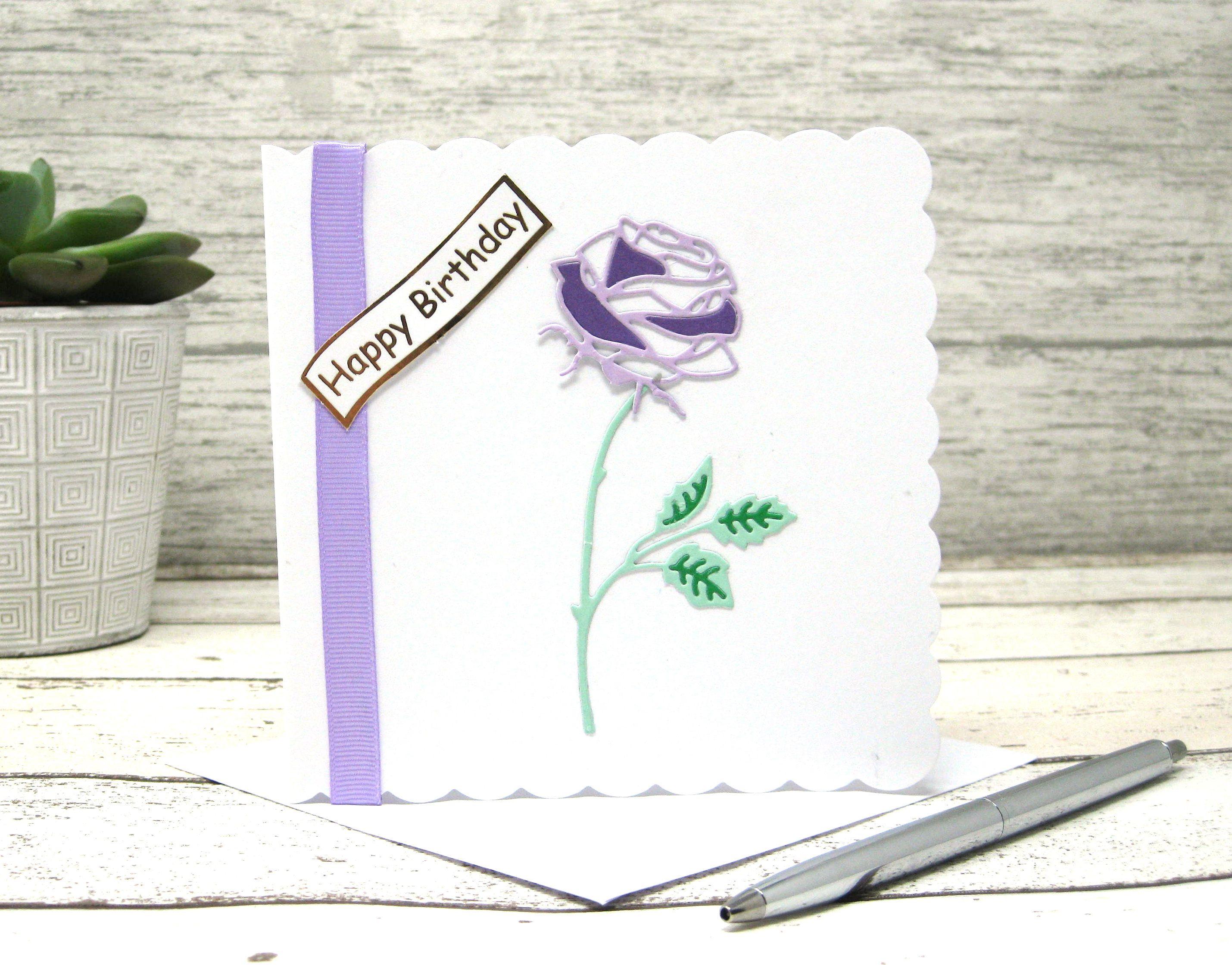 Delicate Single Rose Delicate Rose Birthday Rose Happy Birthday