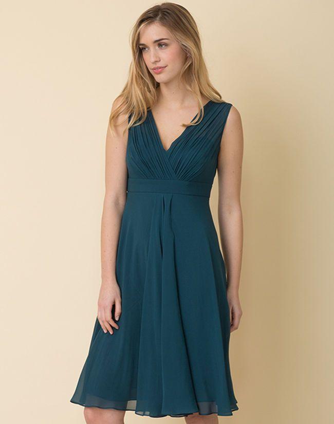 Bleu Femme 2019… Soie En Canard Loulou 123 …Mode Robe If7myYgb6v