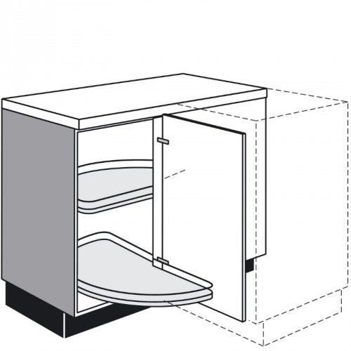 EckUnterschrank mit 1 Drehtür 500 mm breit