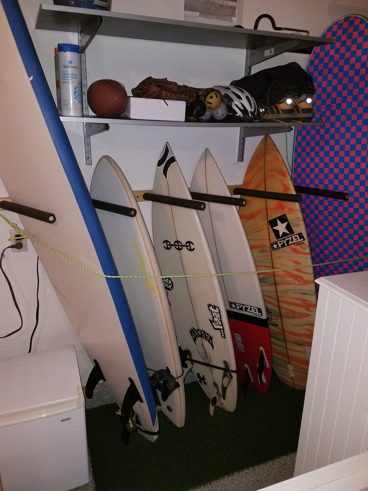 s pin acrylic you surfboard clear have it to vertical wall mount so look rack display