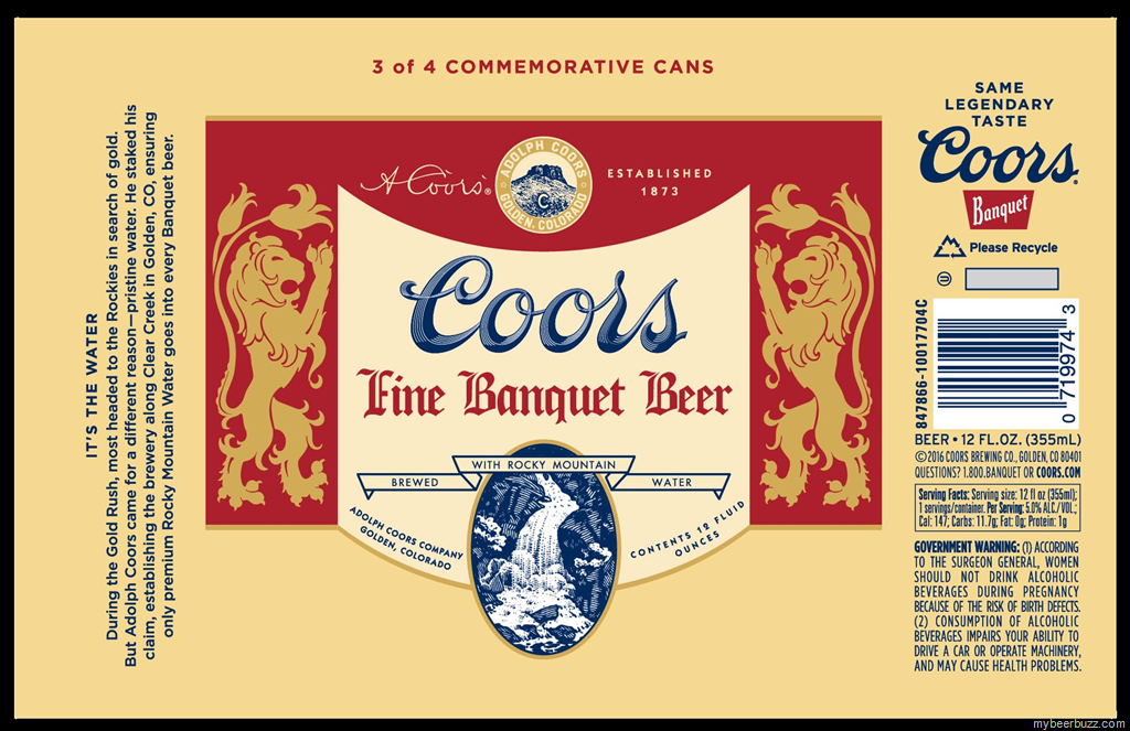 Coors 2016 Commemorative Heritage Can 3 With Images Coors