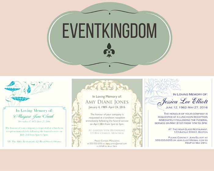 39 Best Funeral Reception Invitations | Funeral Reception ...