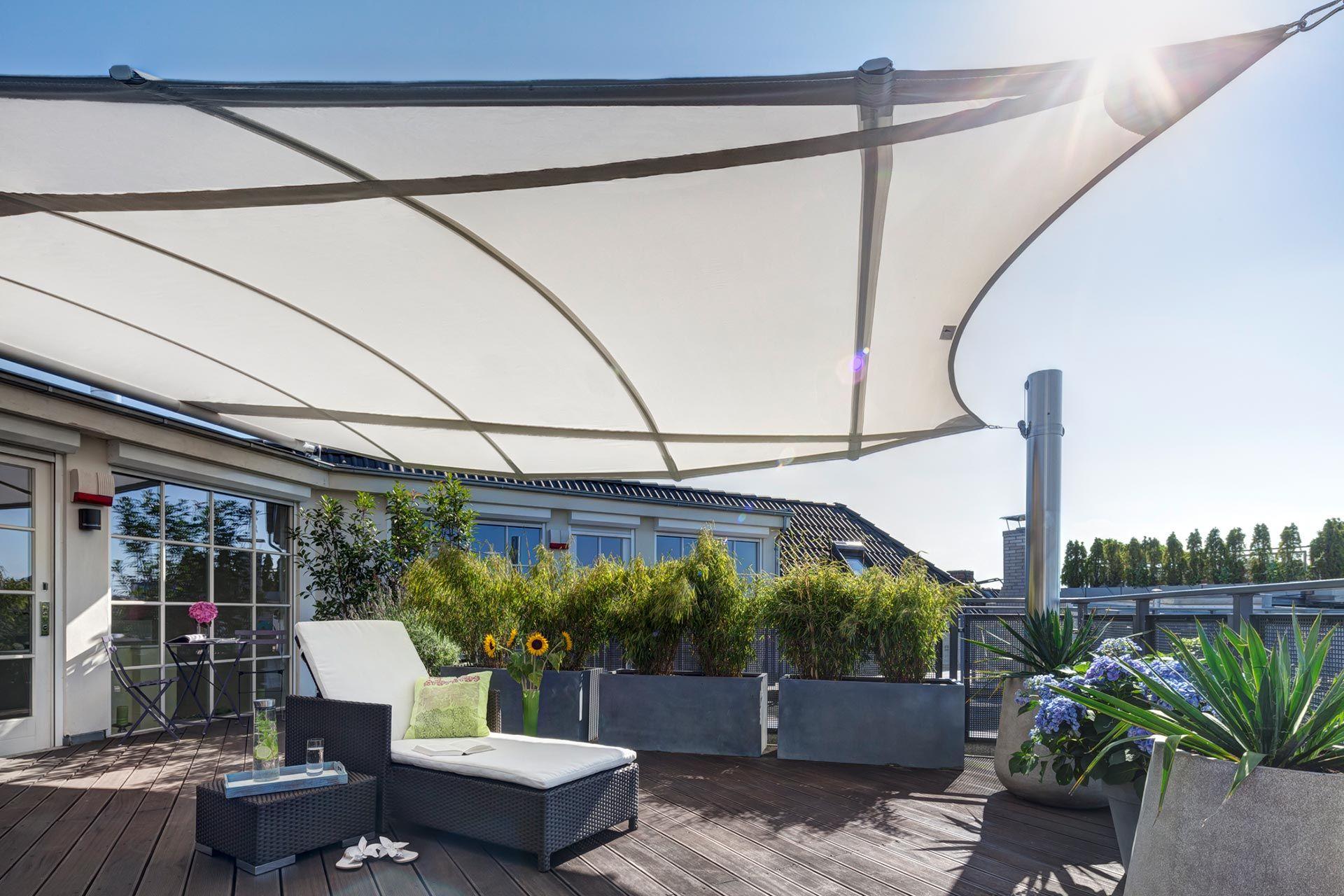 trapez4sun high end sonnensegel dachterrasse. Black Bedroom Furniture Sets. Home Design Ideas
