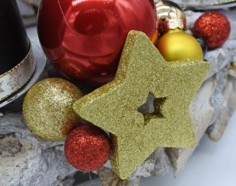 Adventskranz Kerzen schwarz rot gold Weihnachten 30cm