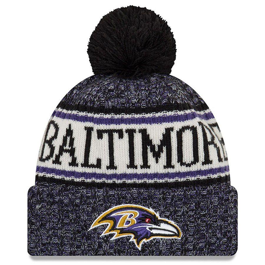 Men's Baltimore Ravens New Era Black 2018 NFL Sideline