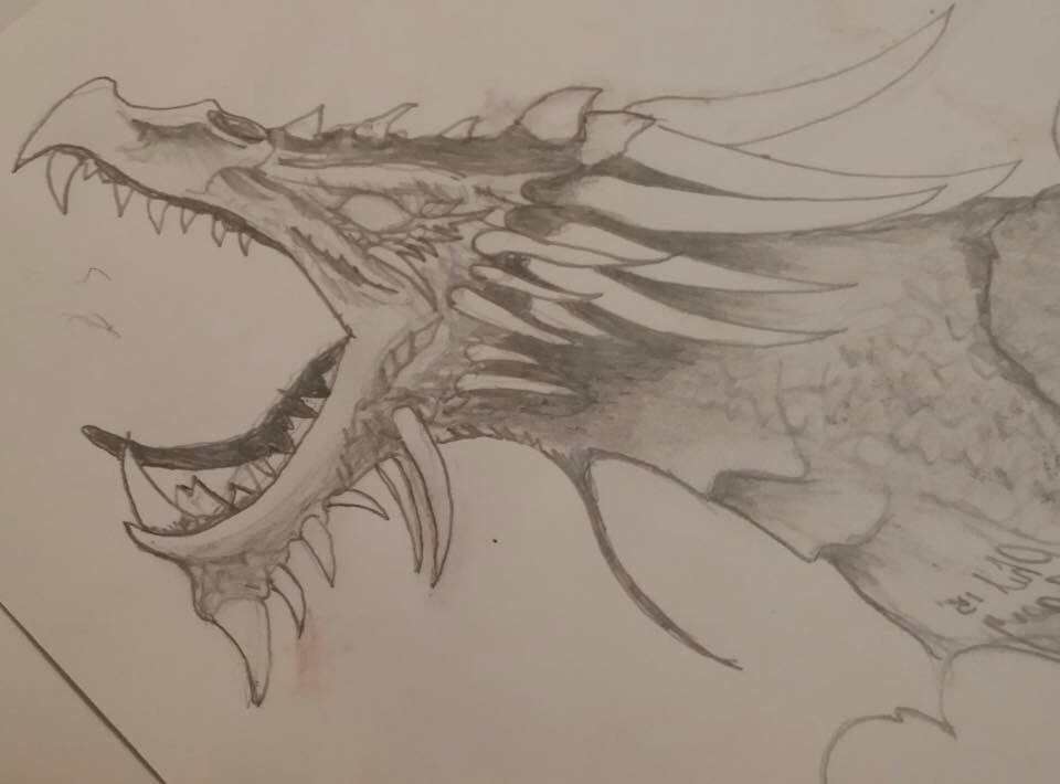The Ice Dragon (With images)   My drawings, Sketches ...
