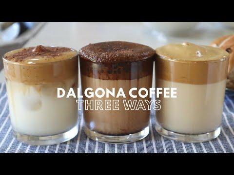 (1) DALGONA COFFEE AT HOME THREE DIFFERENT WAYS