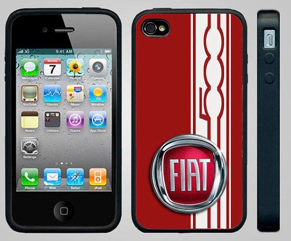 huge selection of f0fa8 31bb7 Apple iPhone 4/4s Case. FIAT 500 STYLE Red Custom Silicone iPhone 4 ...