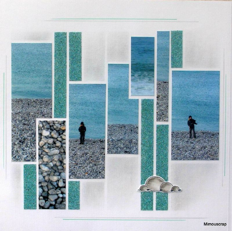 Id e pour plage d 39 amiante corse azza pinterest cr atif mosa ques - Idee scrapbooking amour ...