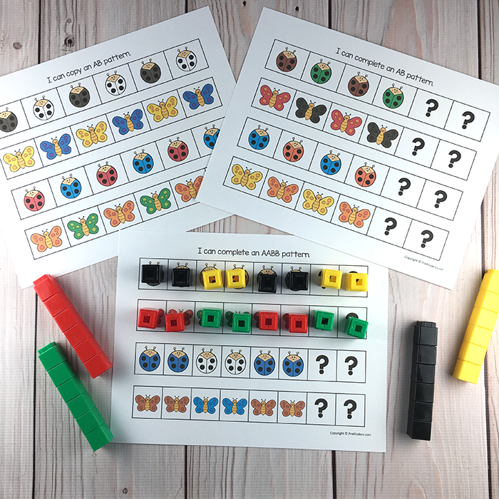 Bug Pattern Cards. Available at: https://www.teacherspayteachers.com/Product/Bugs-Insects-Printable-Math-Literacy-Activities-Pre-K-Preschool-Kindergarten-3081561