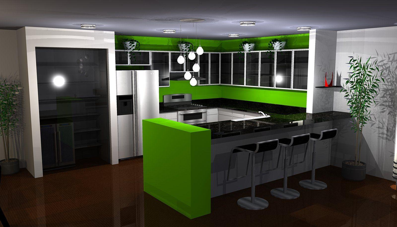 modest green kitchen interior design ideas - Green Kitchen Ideas