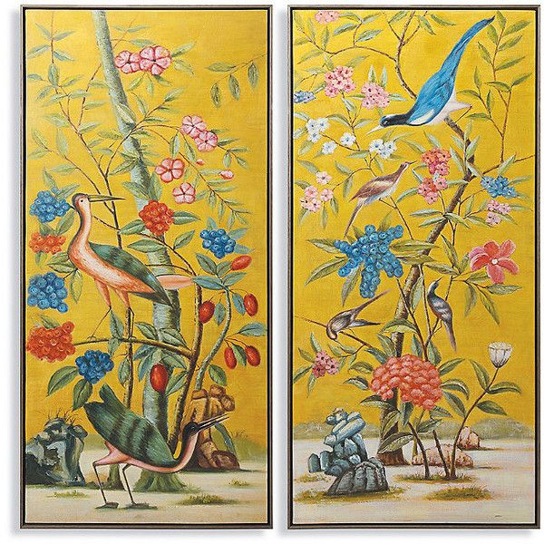 Paradiso diptych oil on canvas 1299 ❤ liked on polyvore featuring home home · painting canvascanvas wallscanvas wall artoil