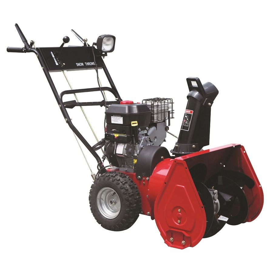 Worldlawn 24-In 208-Cc Two-Stage Gas Snow Blower With Pull Start; Headlight(S) Ws2475bse