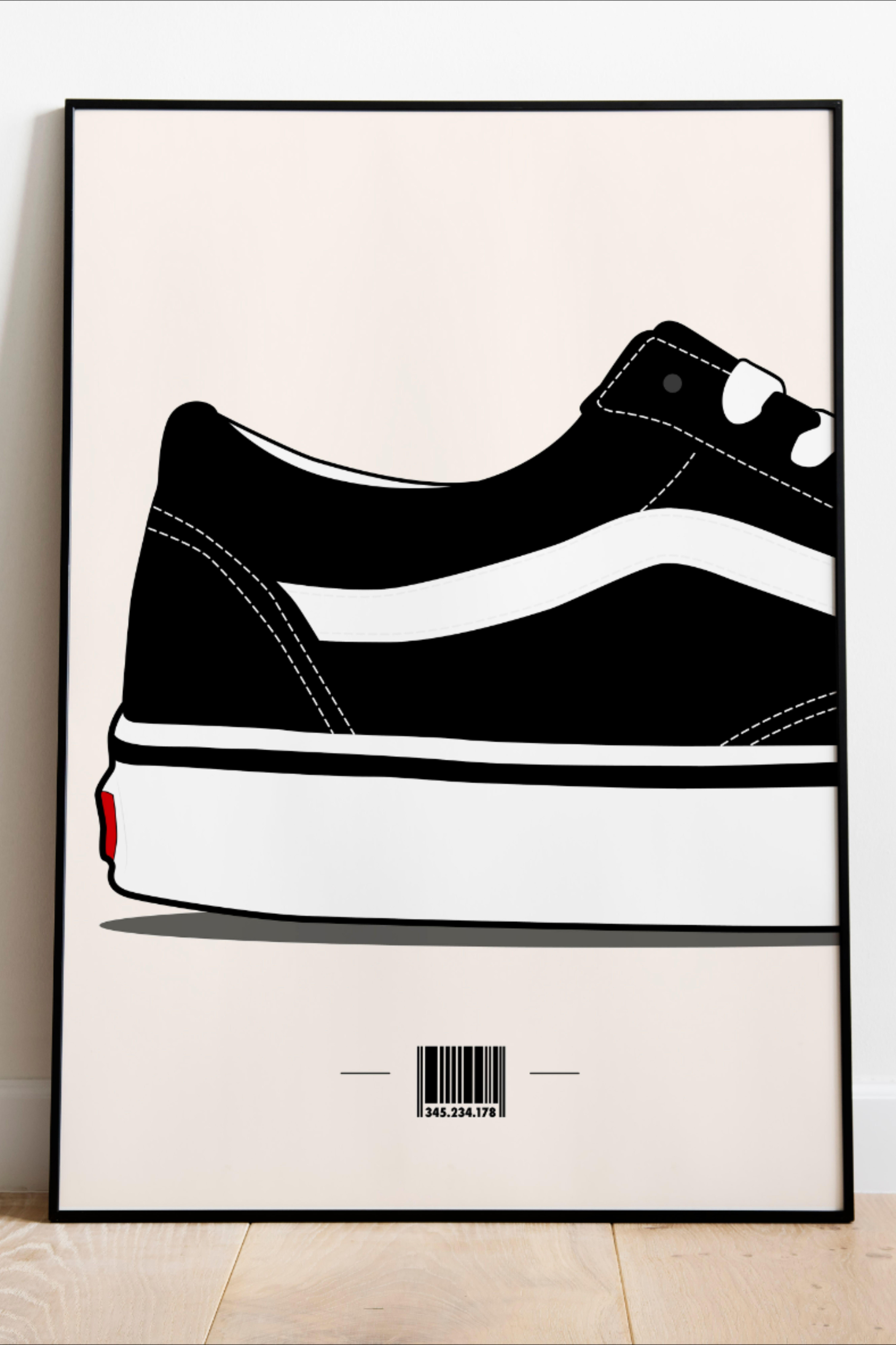 Vans sneakers/poster Vans/Digital print VAns/ Sneakers