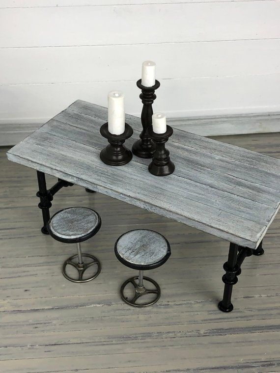 Miniature Table, Dollhouse Table, Modern Dollhouse, Dollhouse Furniture, Miniature Furniture, Miniat #dollhousefurniture